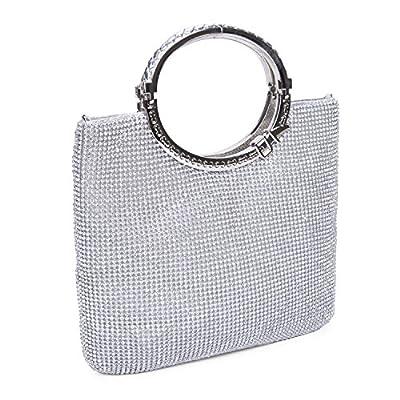 CLOCOLOR Womens Crystal Rhinestone Evening Bags Wedding Clutch Purse with Bow Frame