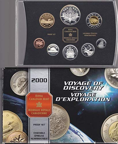 CA 2000 Canadian Voyage of Discovery 8-Coin Proof Set in Original Packaging and COA