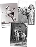 Avanti Historic America Blank Notecards in Assorted Designs, Country Girls, 10-Count