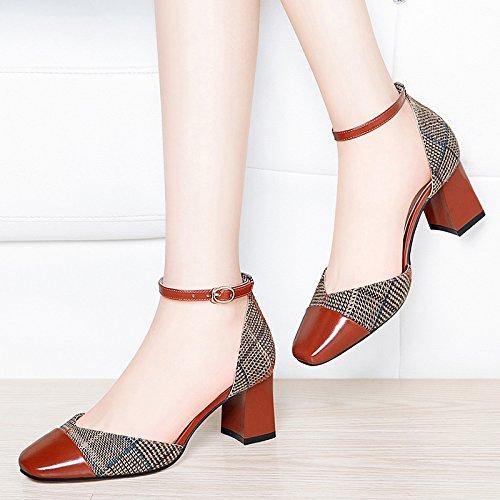 Pumps HUAIHAIZ Shoes Court Shoes Heeled Women Sandals Heels High Summer Sandals Brown Shoes high EFFfq