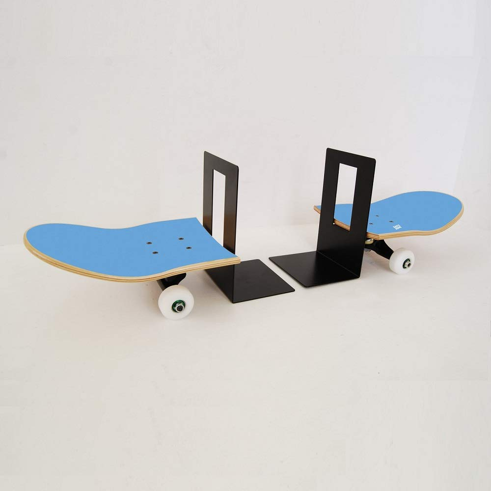 Amazon.com: SKATE HOME Skateboard Bookends Ideas and Presents for Skateboarders in Blue Color: Home & Kitchen