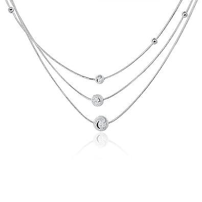 ce724750b712 Collar de plata de ley para mujer