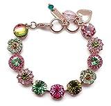 Mariana Tutti Frutti Swarovski Crystal Rose Goldtone Bracelet Pink & Green Mosaic 142