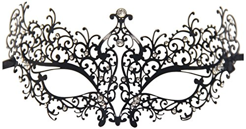 Geek-M Metal Laser Cut Masquerade Venetian Party Mask Black for $<!--$12.50-->