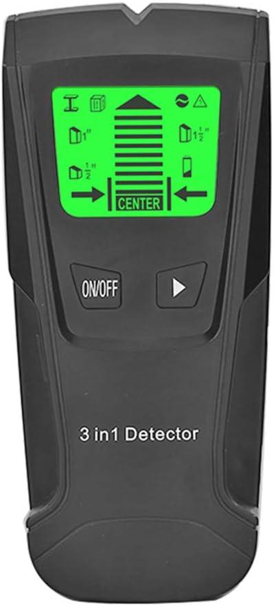 Detector de Metales y Madera sin bater/ía Detector de Metales 3 en 1 Ocamo Detector de Metales Detector el/éctrico de Pared de detecci/ón de Voltaje de CA