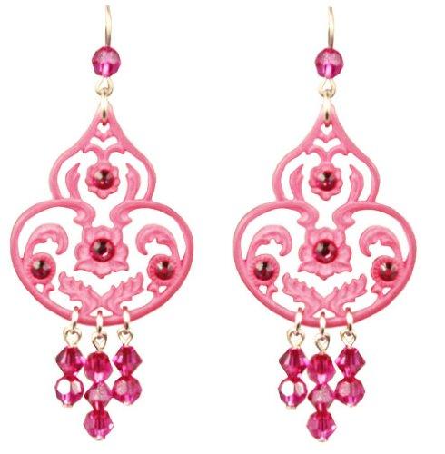 Tarina Tarantino Jewelry Classic Lucite Dangle Earrings Pink