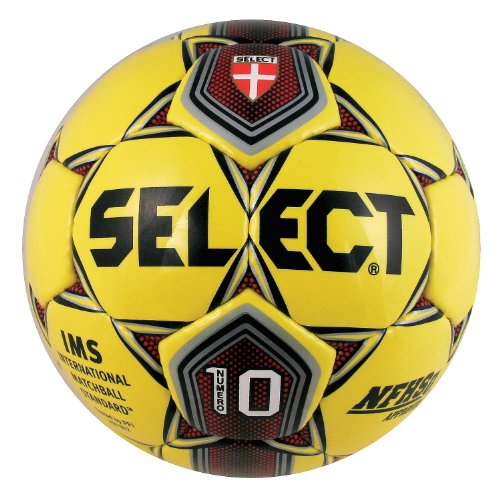 Select Sport America Numero 10 Soccer Ball, 5, Yellow/Red