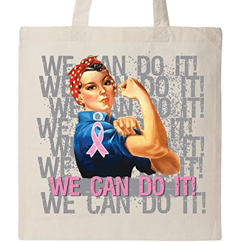 Inktastic - Breast Cancer Rosie WE CAN DO IT Tote Bag Natural - HDD 1d41e