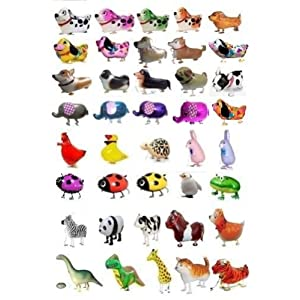 SSJSHOP Set 100 Pcs Of Animals Balloon Fun For Kids Great For Parties Non-Allergenic
