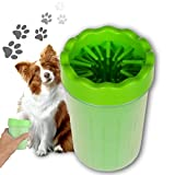KITKAYEE Portable Dog Paw Cleaner Pet Cleaning Brush Cup Dog Foot Cleaner (Medium, Green)