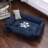 QETUOA Paw Print Pet Bed Big House Big Dog Puppy Kennel Waterproof Cat Litter Four Seasons Nest Warm Pet Supplies