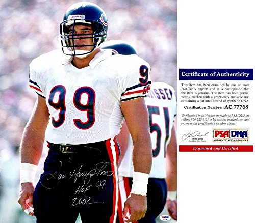 Dan Hampton Signed - Autographed Chicago Bears 16x20 inch Photo with Hall of Fame Inscription - PSA/DNA Certificate of Authenticity (COA) ()