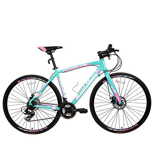 Bavel Commuter Aluminum Road Bike 21 Speed 700c (Green + White, 48cm)