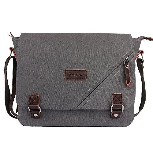 6bb92c8540 ibagbar Canvas Messenger Bag Shoulder Bag Laptop Bag Computer ...