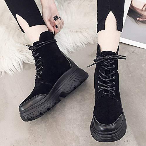 f9e7410f81 ... ZHZNVX Stivali alla Moda da Donna Stivali alla Caviglia Caviglia  Caviglia in PU Tacco Piatto Stivaletti
