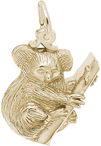Rembrandt Koala Bear Charm - Metal - Gold Plated Sterling Silver