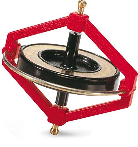 Navir 18 Pieces Space Wonder Gyroscope in Display, Red