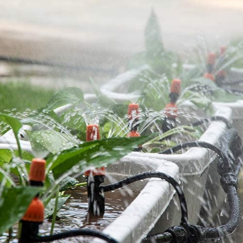 Garden 8/11 Mm Hose Standard 3 / 8inch Drip Irrigation Pipe Greenhouse Micro Spray Accessories Watering Kits Water Pipe 5-30m Watering hose (Color : 25m (82 ft)) 15m (49.21 Ft)
