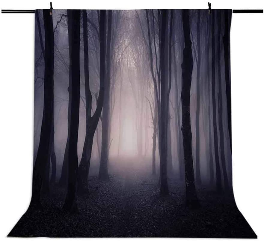 10x12 FT Photo Backdrops,Path Through Dark Deep in Forest with Fog Halloween Creepy Twisted Branches Picture Background for Baby Shower Birthday Wedding Bridal Shower Party Decoration Photo Studio