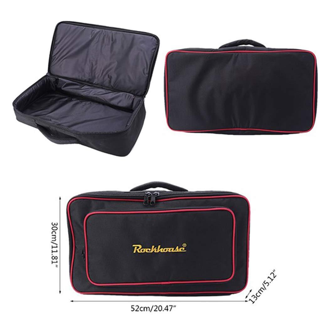 Kongnijiwa Effets Guitare /électrique Conseil Sac de Rangement P/édale deffet Carry Case Pedalboard Zipper Pouch