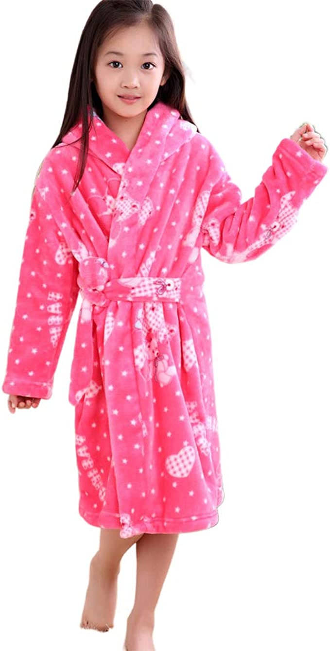 Verabella Boys Girls Plush Soft Fleece Printed Hooded Beach Cover up Pool  wrap Clothing Sleepwear & Robes