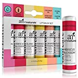 ArtNaturals Natural Lip Balm Beeswax - (6 x .15 Oz / 4.25g) - Gift Set...