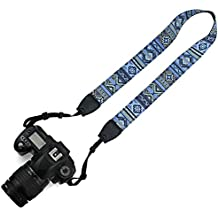 Elvam Camera Neck Shoulder Belt Strap Compatible w Nikon,Canon,Sony,Olympus,Kodak,Pentax ETC DSLR/SLR, Pattern Striped