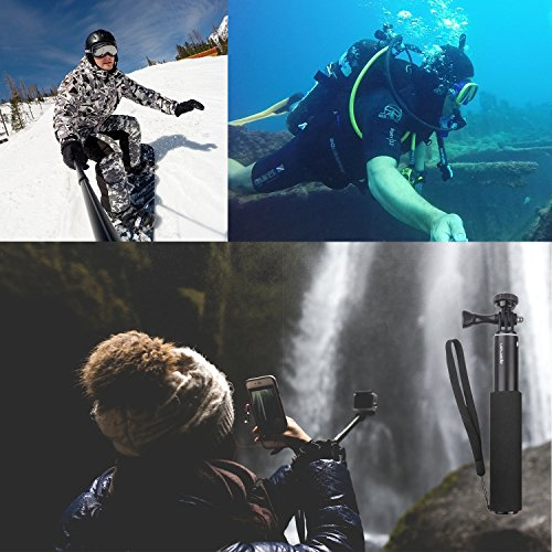 Apeman Selfie Stick Self-portrait Extendable Aluminum Monopod Holder Perfectly Compatiable with action cameras, smartphones, waterproof cases by APEMAN (Image #7)