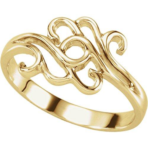 Rings, 14K Yellow Freeform Remount Ring