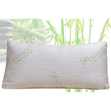 Bamboo By Home With Comfort - Bamboo Pillow With Shredded Memory Foam and Stay Cool Cover (King)