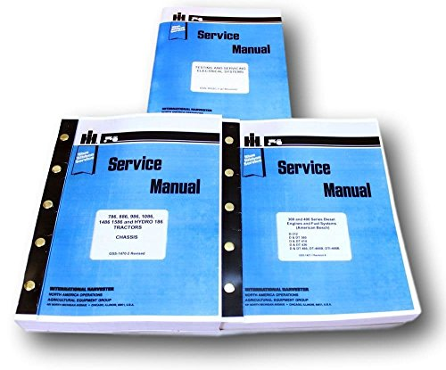 Electrical Shop Manual (INTERNATIONAL 886, 986, 1086, 1486, 1586, HYDRO 186 TRACTORS SERVICE REPAIR SHOP MANUAL 3 VOLUMES)