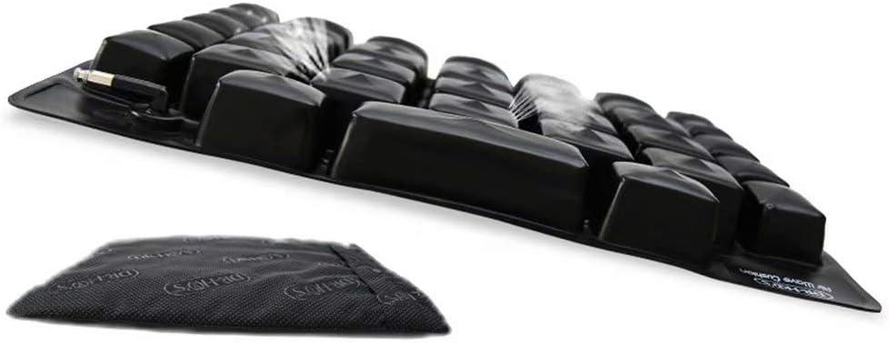 GG-Anti-decubitus cushion El cojín Inflable del Asiento del Aire Hace, el colchón de Aire médico de la Silla de Ruedas, Antipolvo previene el Alivio del Dolor del decúbito, Negro