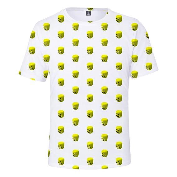 WQWQ Camiseta de Hombre Roblox, Manga Corta con Estampado 3D de Personalidad, Camisa de Juego Sandbox Slim 100% poliéster XL XXL
