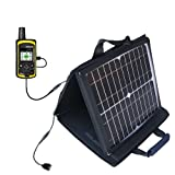 Gomadic SunVolt Powerful and Portable Solar Charger suitable for the DeLorme inReach SE - Incredible charge speeds for up to two devices