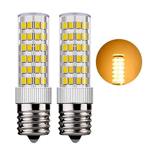 Ceramic E17 Dimmable LED Bulb 6Watt Appliance Bulb, Energy-Saving Bulb,580lm, 60W Halogen Equivalent AC110-130V E17 LED Bulb for Microwave Oven Appliance, Intermediate Base (Warm White3000k) Pack of 2