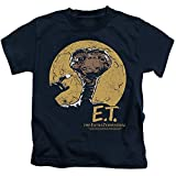 ET the Extra Terrestrial Moon Frame Little Boys Shirt Navy LG (7)