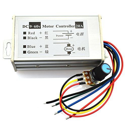DZS Elec DC Motor Controller 9-60V High Power PWM Control Switch Motor Speed Regulator DC 12V 24V 36V 48V 60V 20A 1200W