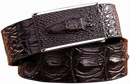 BCNJ Ceinture Tissage Courroie Designer Boucle Lisse en Cuir Véritable De Vintage Ceinture De Haute Qualité Cowboys Taille Jeans Strap p16-balck