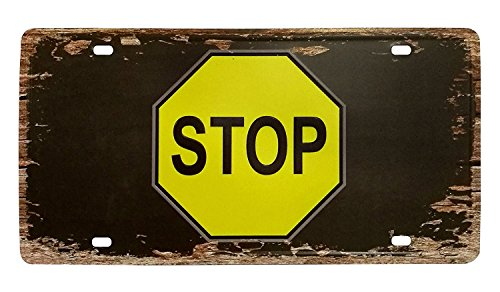 FLY SPRAY Decorative Signs With Saying STOP Tin Metal Iron Sign Letter Logo Retro Painting Feel Rustic for Wall Home Office Bar Coffee Shop 6.2