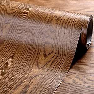Glow4u Revestimiento autoadhesivo de madera de roble para armarios ...
