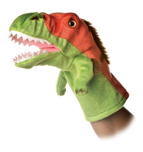 Aurora World Hand Puppet Plush Velociraptor, 10