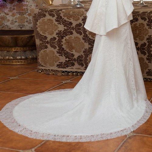 Dearta Hof Kristall Kleidungen Herz Brautkleider Mit Elfenbein Trompete Perlenstickerei Spitze Ausschnitt Damen Schleppe Meerjungfrau rwF4Y7nrqx