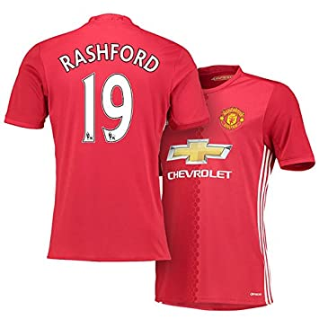 sports shoes 12fb3 596aa Marcus Rashford #19 Manchester United Home Red Devils Soccer ...