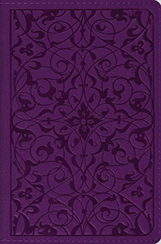 ESV Compact Bible (Floral Plum Design) (Shiny Plum)