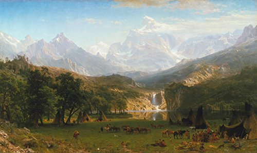 Albert Bierstadt - The Rocky Mountains, Lander's Peak, Size 22x36 inch, Gallery Wrapped Canvas Art Print Wall décor