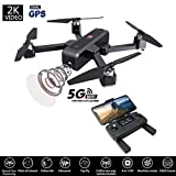 Jessie storee MJX Bugs 4W Drone with 2K HD Camera for Adults Brushless Folded RC Quadcopter with Altitude Hold Droid Drones, RTF and Easy to Fly for Beginner 5G WiFi FPV GPS, One Key Return (Black)