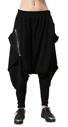 pantalon femme hip hop automne hiver pantalon femmes lache sarouel en cuir 2017 noir hip hop. Black Bedroom Furniture Sets. Home Design Ideas