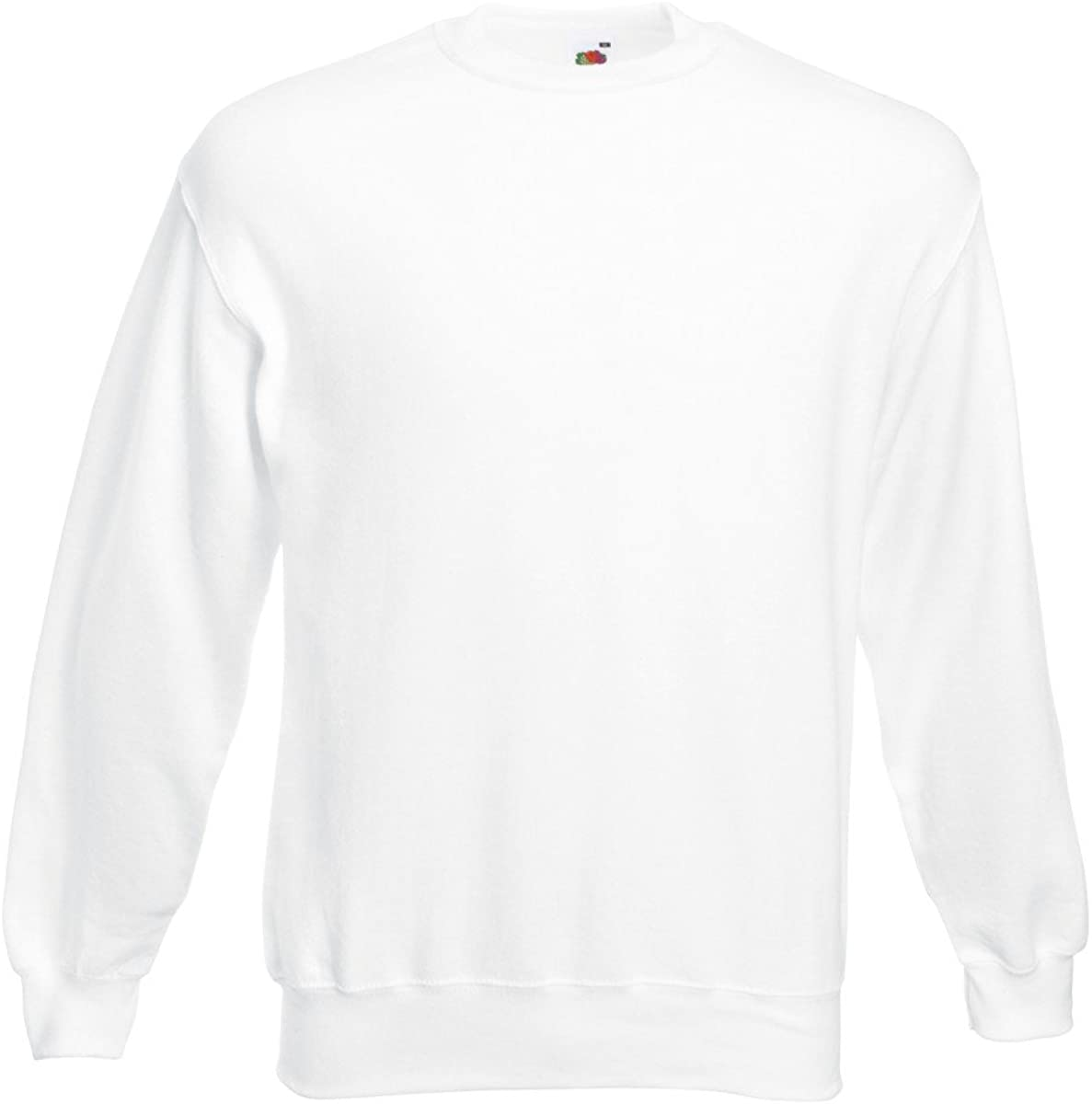 L, White Fruit of the Loom Classic Set-In Sweatshirt SS200