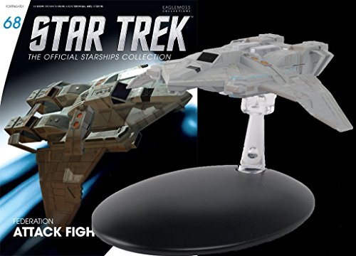 Star Trek Starships Federation Fighter Die-Cast Metal Vehicle with Magazine #68