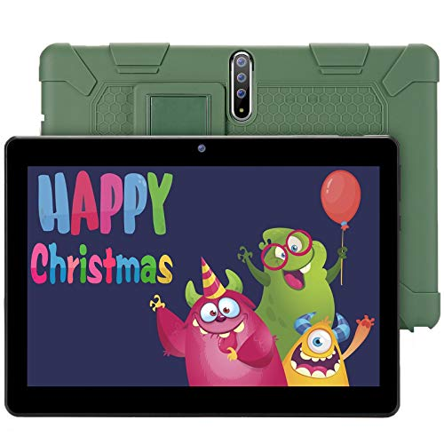 GBD Kids Tablet 10.1 Inch Android Tablet PC 3G Phone with Dual Sim Card Slots Dual Camera, 1280×800 IPS HD Display, Quad…